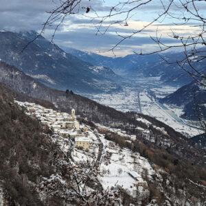 Caspano in winter, Costiera dei Cech