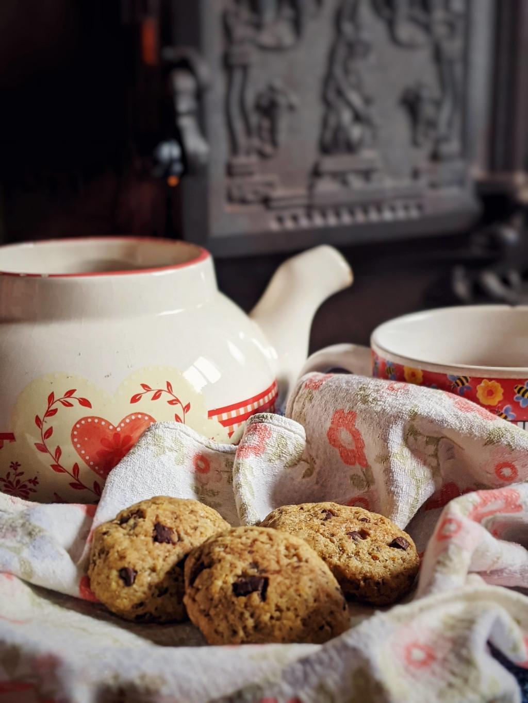 Vegan orange and chocolate cookies