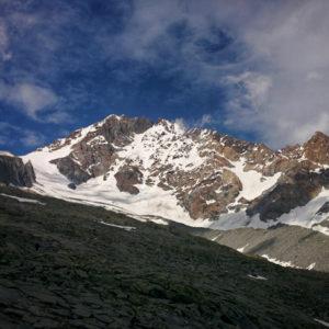 Il Monte Disgrazia durante l'escursione al Rifugio Ponti Valle di Preda Rossa
