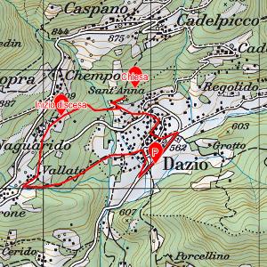 Mappa Sentiero Anna escursione sulla Costiera dei Cech