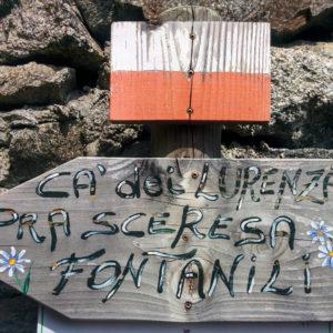 Sentiero Ca' dei Lurenzat – Pra Sceresa – Fontanili