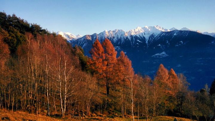Val Tartano dalla Costiera dei Cech inverno 2019