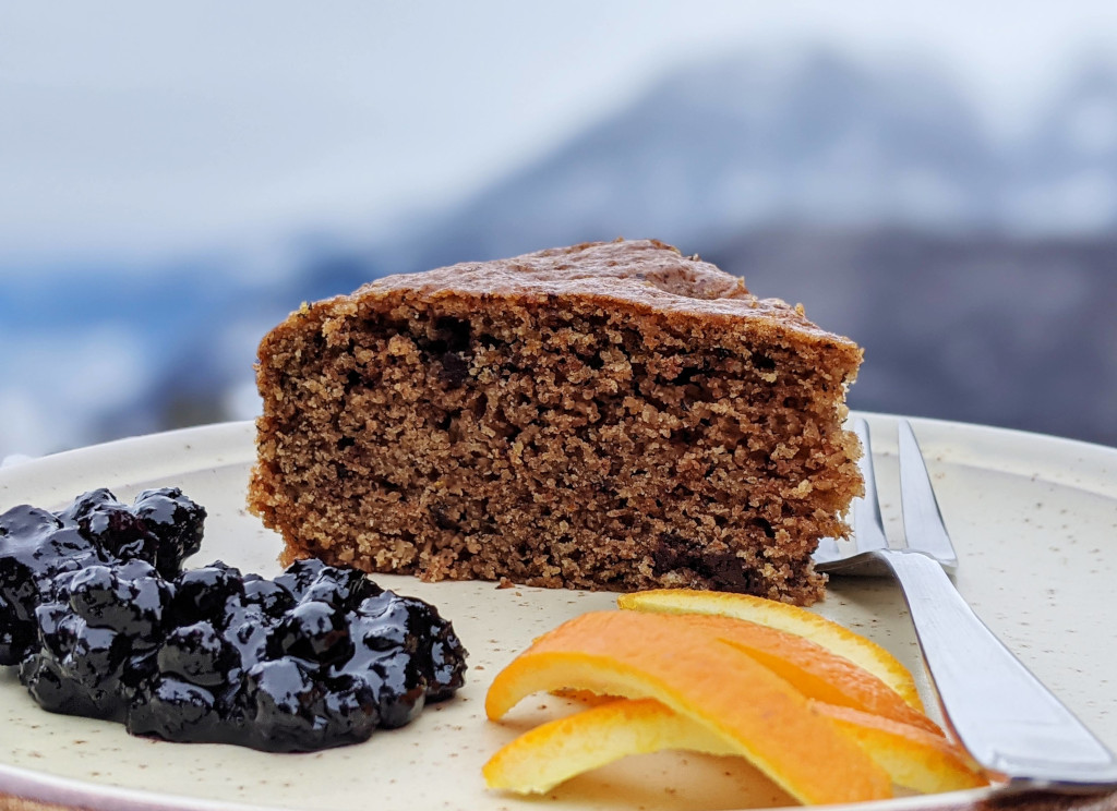 Torta vegana arancia e cioccolato